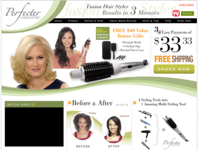 The Perfecter Fusion Styler Is A Heated Round Brush Used ...
